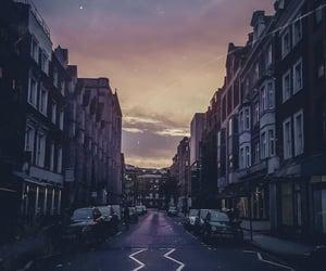 london, travel, and sunset image