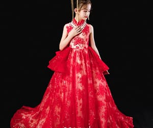 birthday dress, red dress, and tulle dress image