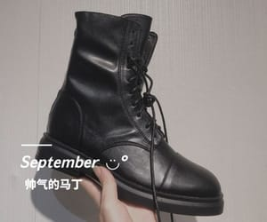 ankle boots, black, and fall image