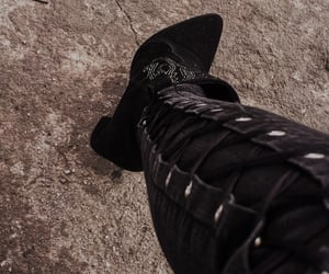 black, botas, and boots image