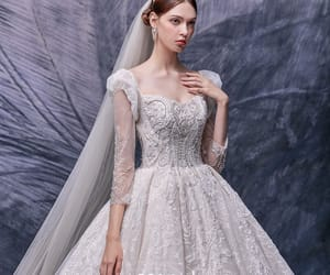 bridal, bridal gown, and vintage wedding dress image