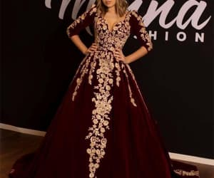 vestido de festa, lace applique prom dress, and ball gown prom dresses image