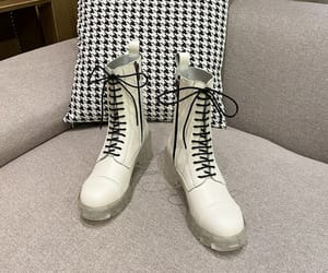 fashion, street wear, and ankle boots round toe image