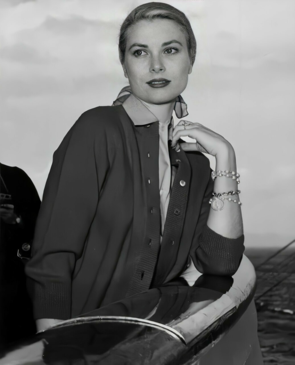 actress, black and white, and elegant image
