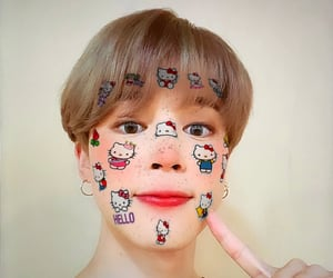 cyber, hello kitty, and bts jimin image