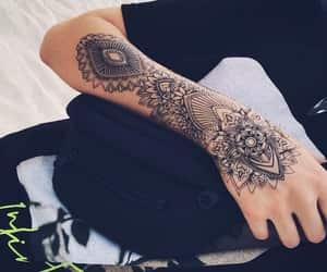 arm, mandala, and tattoo image