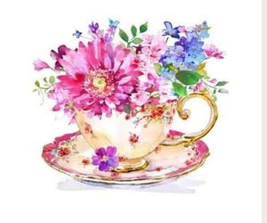teacup, mesmerizing, and fleurs image