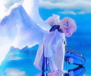 angel, blue, and heaven image