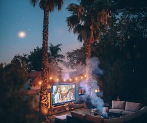 backyard, outdoor, and theater image