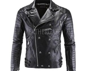 leather jacket, men fashion, and men leather jackets image