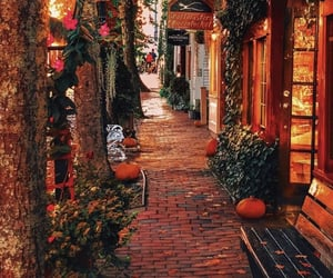autumn, spooky, and city image