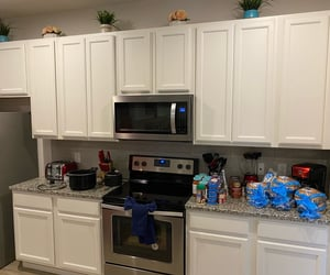 cabinets, stove, and 🏡 image