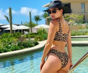 pool, summertime, and bikini image