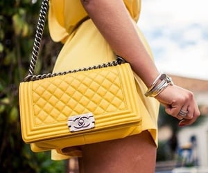 chanel, yellow, and fashion image