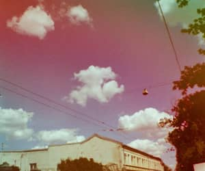 clouds, cotton candy, and lomography image
