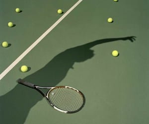 aesthetic, green, and tennis image