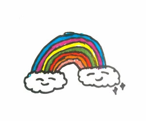 doodle, happy, and rainbow image