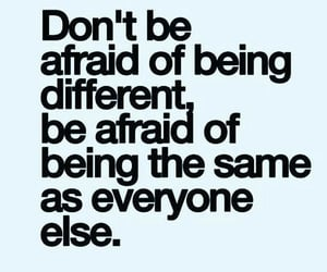 quotes, motivational quotes, and be different image