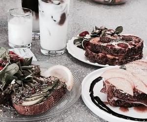 breakfast, drinks, and vegetarian image