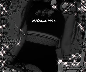 wiliam, jennie theme, and girl black theme image