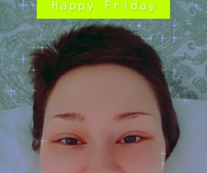 blue, green, and selfie image