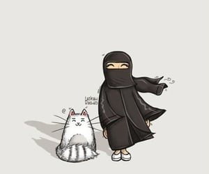 islam, niqab, and صور  image