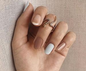nails, girl, and nail art image