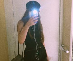 black, hand bag, and mask image