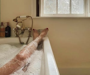bath time, pamper routine, and bathtub image