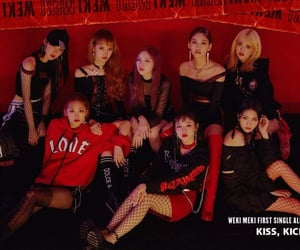 aesthetic, kpop, and red image