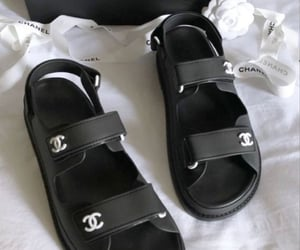 chanel, sandals, and shoes image
