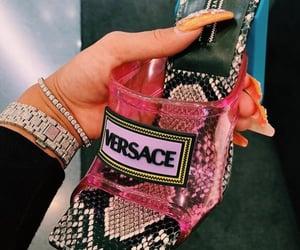 Versace, designer, and heels image