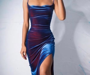 blue dress, delicate, and dress image