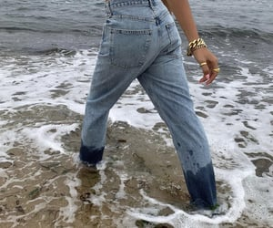 fashion, jeans, and beach image
