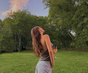 backyard, drinks, and evening image