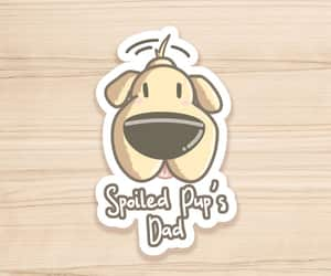 etsy, dog lover gift, and laptop stickers image