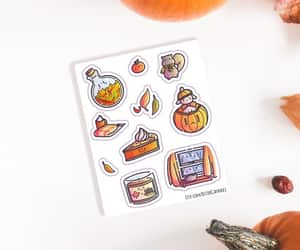 etsy, autumn fall stickers, and laptop stickers image