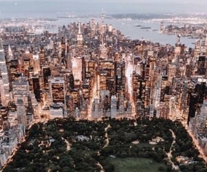 city, nyc, and Central Park image