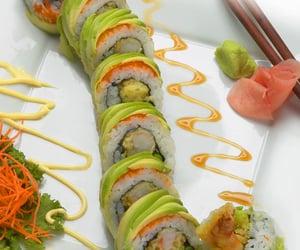 avocado, dragon, and fish image