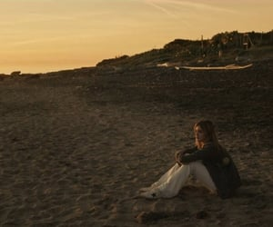alone, baby, and beach image