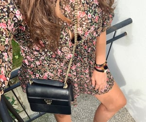 ankle boots, flower dress, and Zara image