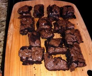 brownies, chocolate, and hungry image