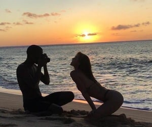 beach, chill, and couples image