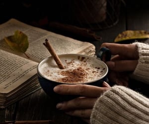 Latte and books