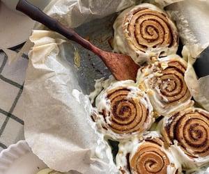 food, Cinnamon, and cinnamon roll image
