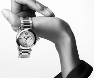 cartier, silver, and watch image