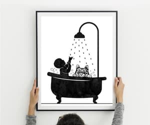 etsy, baby with cat, and nursery decor baby image
