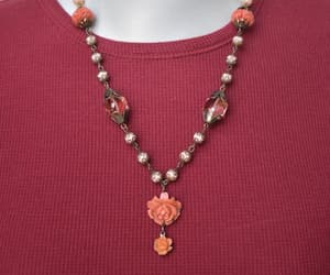 chain necklace, beaded chain, and feminine necklace image