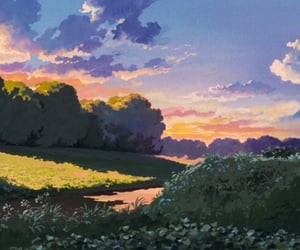 art, ghibli, and scenery image