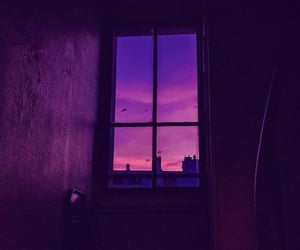purple, window, and aesthetic image